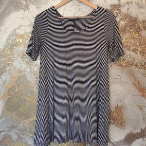 Blue/White Striped Tunic Top